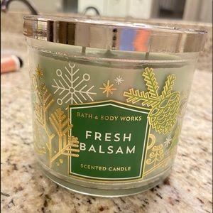 Bath & Body Work Fresh Balsam 3 Wick Candle